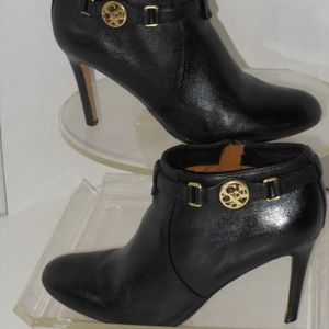 COACH BLACK LEATHER ANKLE BOOTS SIZE 6.5 M